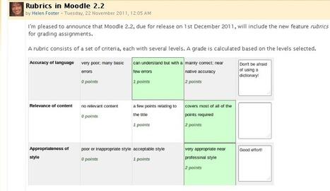 Rubrics in Moodle 2.2 | MoodleUK | Scoop.it