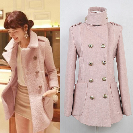 Cheap fashion commuter Slim double-breasted stand collar trench coat in women outcoat from women clothing on sightface.com | Cheap women Clothing Online at Sightface | Scoop.it