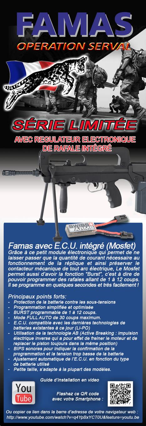 Famas F1 Opération Serval - Modèle plastique, Métal avec Hop Up, Pignon gear box Métal | Airsoft Rider Shop | Scoop.it