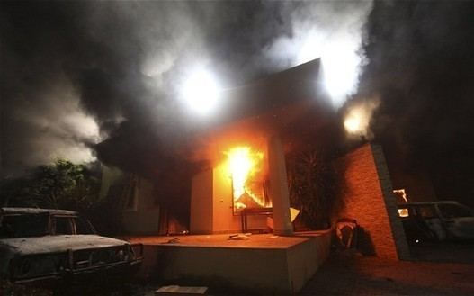CIA 'running arms smuggling team in Benghazi when consulate was attacked'