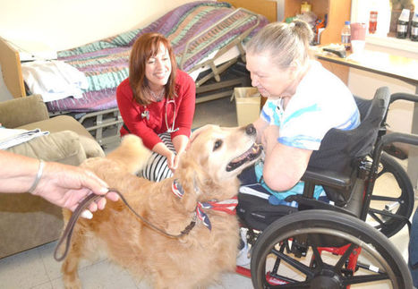 Four-legged companions bring smiles to the elderly every week - Perry County Republic Monitor | Training sheep dogs | Scoop.it