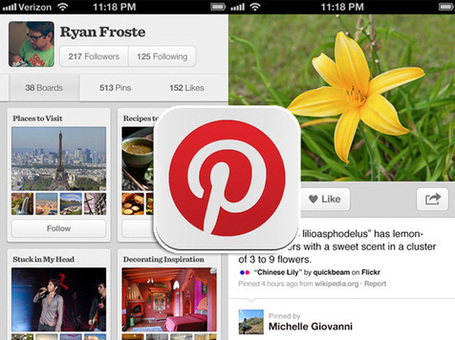 Pinterest iPhone iPad Android : Applications Officielles (gratuit) | Mobile, Web et autres friandises | Scoop.it