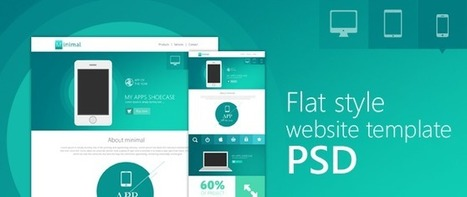 Flat Style Website Template PSD for Free Download - Freebie No: 85 | Website Design Template PSD | Scoop.it