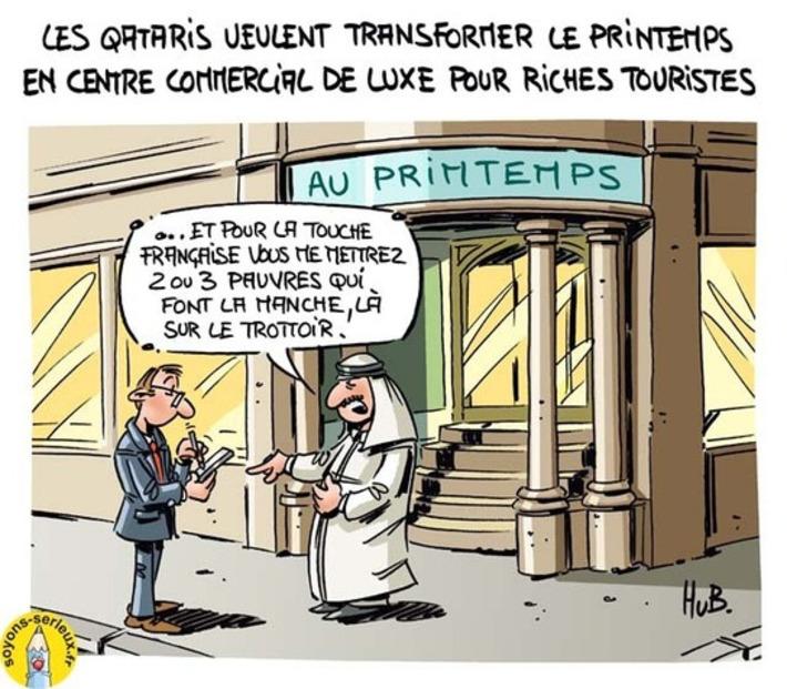 Les Qataris veulent transformer le Printemps en centre commercial de luxe | Baie d'humour | Scoop.it