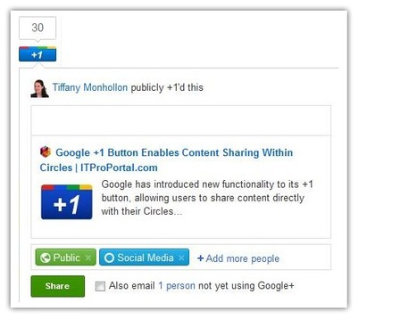 Evolution of the Google +1 Button: Sharing Content to Circles | G+ Smarts | Scoop.it