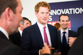 """Prince Harry begins """"dream job"""" as he travels to Africa 
