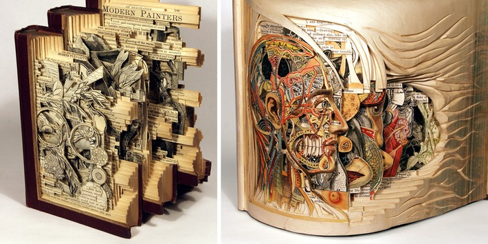 'Book Surgeon' Uses Surgical Tools To Make Incredible Book Sculptures | Machinimania | Scoop.it