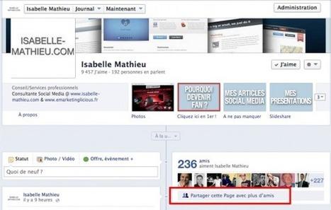 Nouveauté Facebook : Partager cette Page avec plus d'Amis | Facebook outils et astuces | Scoop.it