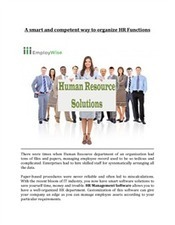 A smart and competent way to organize HR Functions | EmployWise | Scoop.it