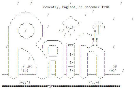 ASCII Art—Nature—Rain | ASCII Art | Scoop.it