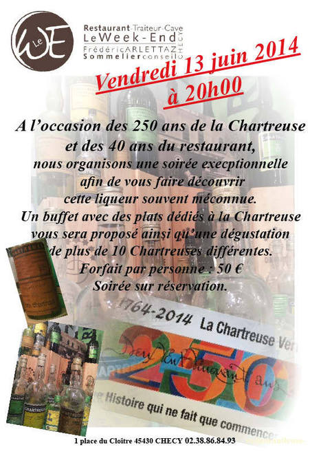 Dégustation Chartreuse  13 juin   liqueur Chartreuse   Scoop.it