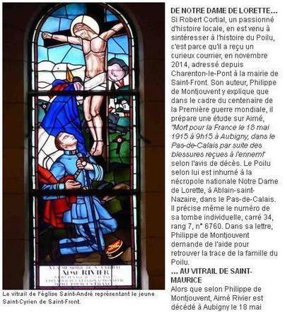 Article du jour (164) : de Charenton à Saint-Front | CGMA Généalogie | Scoop.it
