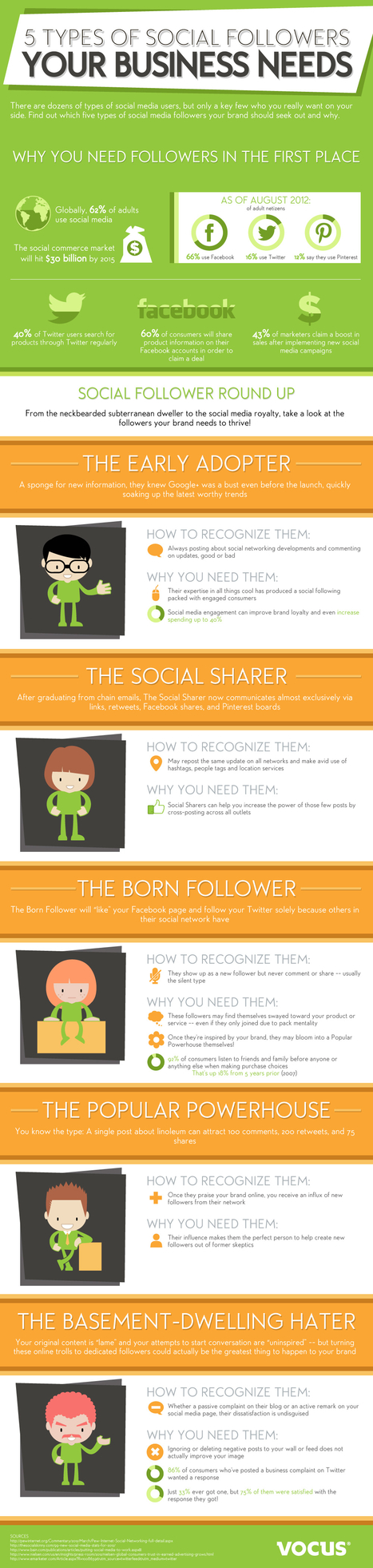 The 5 Types Of Social Follower That Every Business Needs [INFOGRAPHIC] | Lesson Plans K5- K12 | Scoop.it