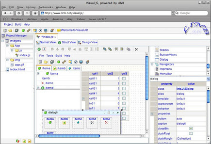 linb - Visual JS is web based tool for AJAX RIA application UI rapid design and involved scripts programming - Google Project Hosting | Best Backbone.js Collection | Scoop.it