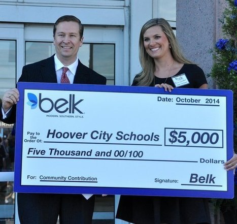 Hoover City Schools Foundation receives donation from Belk | The Hoover Sun | KATIE TURPEN | Belk, Inc. Modern. Southern. Style. | Scoop.it