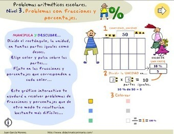 problemas con fracciones y porcentajes - Aprender es divertido | Matemáticas divertidas 1ºESO | Scoop.it