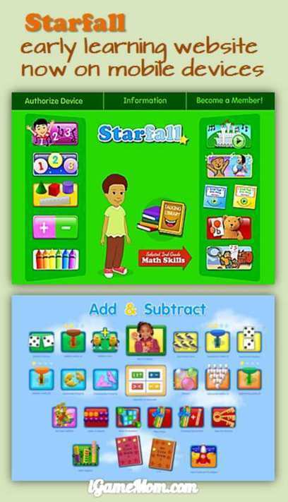 Free App: Bring Starfall Website on iPad and iPhone   iGameMom   Edtech PK-12   Scoop.it