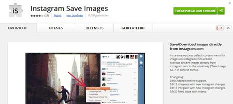 Comment enregistrer une photo Instagram sur le bureau en utilisant google chrome? | Web 2.0 | Scoop.it