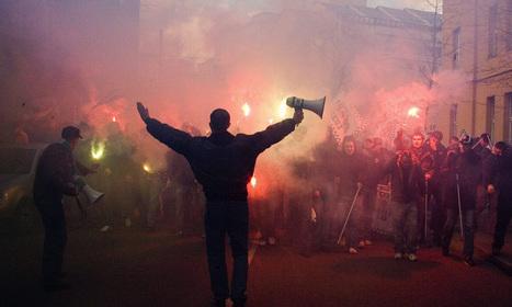Rapid-Fans und Ball-Demonstranten als Landfriedensbrecher? - DiePresse.com | Hütteldorfer | Scoop.it