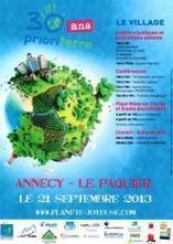 Prioriterre fête ses 30 ans à ANNECY le 21 septembre 2013 | Planete Joyeuse | Scoop.it