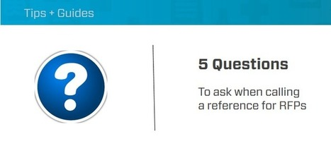 5 Questions to Ask When Calling a Reference During the RFP Process | #HITsm | Scoop.it