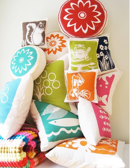 Cushion Spot: Hand drawn fun and eclectic designed cushions | Designer Cushions | Scoop.it