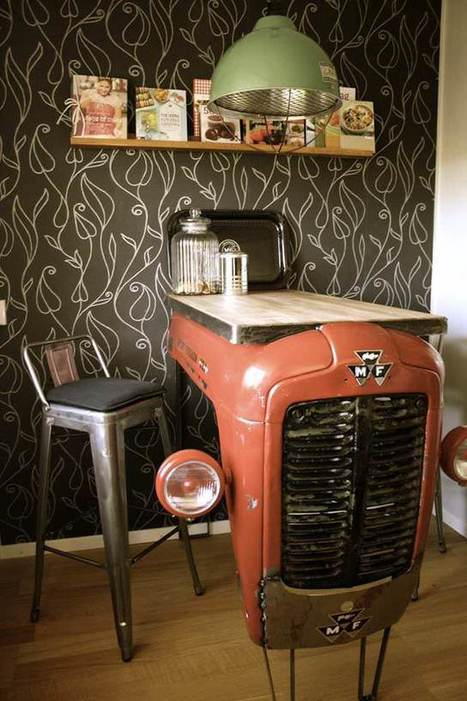 Old Massey Fergusson Tractor Repurposed As A Piece Of Industrial Design For Your Interior   Decorating Ideas - Home Design Ideas   Scoop.it