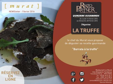 NEWSLETTER DU RESTAURANT LE MURAT | RESTOPARTNER : des restaurants  de qualités à Paris - France | Scoop.it