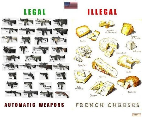 Exemple de logique shadok : armes en vente libre et fromages interdits... | ParisBilt | Scoop.it