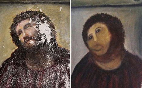 Botched Christ fresco restorer opens new art exhibition in Spain - Telegraph | Strange days indeed... | Scoop.it