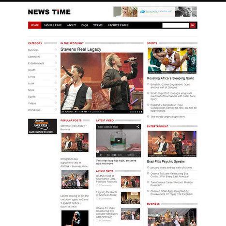 NewsTime WordPress Theme | WordPress Theme Download | Best WordPress Themes 2013 | Scoop.it