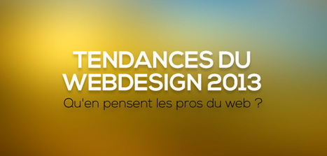 Tendances du webdesign 2013 : qu'en pensent les pros du web ? | WebdesignerTrends - Ressources utiles pour le webdesign, actus du web, sélection de sites et de tutoriels | Webspiration | Scoop.it