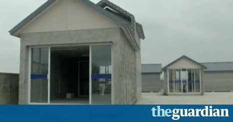 3D printer builds houses in China - video | darch | Scoop.it