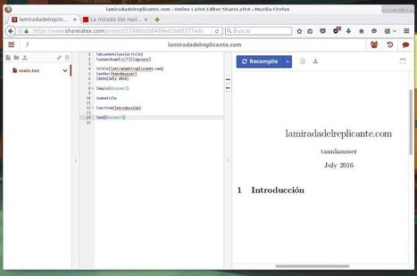 ShareLaTeX: herramienta colaborativa para documentos LaTeX | TIKIS | Scoop.it