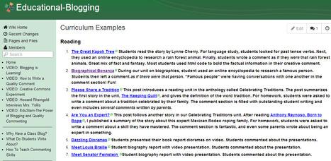 Educational-Blogging - Curriculum Examples | Blogging 101 | Scoop.it