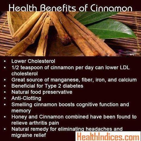 Health Benefits of Cinnamon | Food and Drink | Scoop.it