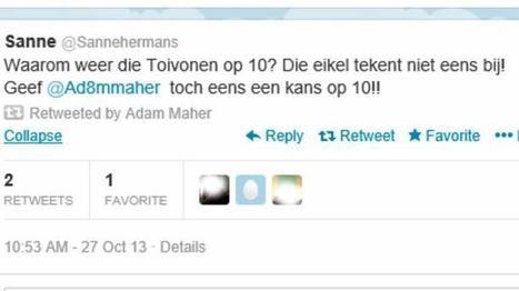 PSV'er Adam Maher op het matje bij Cocu na retweet. #mediawijsheid | ICT Nieuws | Scoop.it