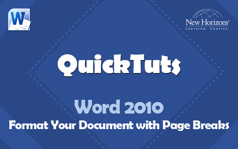 Format your documents with page breaks in Word 2010 | Graphic Design | Scoop.it