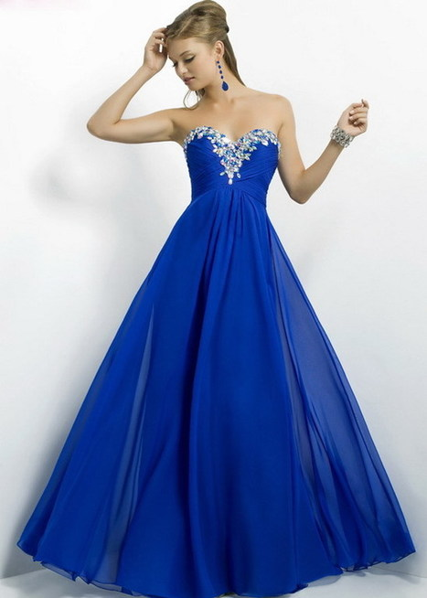 Royal Long Multi-color Beaded Neck Strapless Chiffon Prom Dress [Blush Prom 9717 Royal] - $201.98 : Cheap Prom Dresses & Homecoming Dresses For Sale Online | long prom dresses | Scoop.it