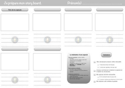 Académie Orléans-Tours. Réaliser des capsules en classe. Un storyboard pour aider les élèves à réaliser leurs propres capsules de  François Lamoureux | Web2.0 et langues | Scoop.it