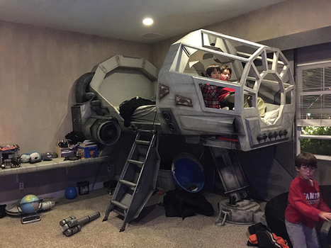 Dad Turns Star Wars' Millennium Falcon Cockpit Into Awesome Bed for His Son | Le It e Amo ✪ | Scoop.it