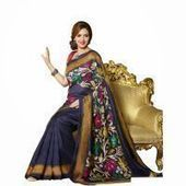 Buy  Isha Deol Blue Bhagalpuri Saree  Online | Best Prices in India: Rediff Shopping | Online Shopping | Scoop.it