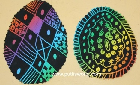 Easy Kids Craft - Easter Scratch Art ~ Putti's World-kids-activities | Trabalhos Manuais no Jardim de Infância | Scoop.it