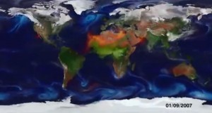 Paint By Particle: A Beautiful Climate Model By NASA | green infographics | Scoop.it