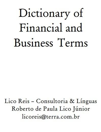 (EN) (PDF) - Dictionary of Financial and Business Terms | Roberto de  Paula  Lico Júnior (GoogleDrive) | Glossarissimo! | Scoop.it