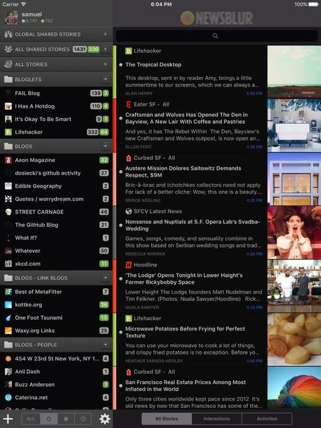 NewsBlur goes dark... on iOS | RSS Circus : veille stratégique, intelligence économique, curation, publication, Web 2.0 | Scoop.it