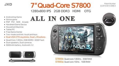 Console Android JXD S7800b - Quad Core - 2Go Ram | Actualité des Tablettes Android™ | Scoop.it