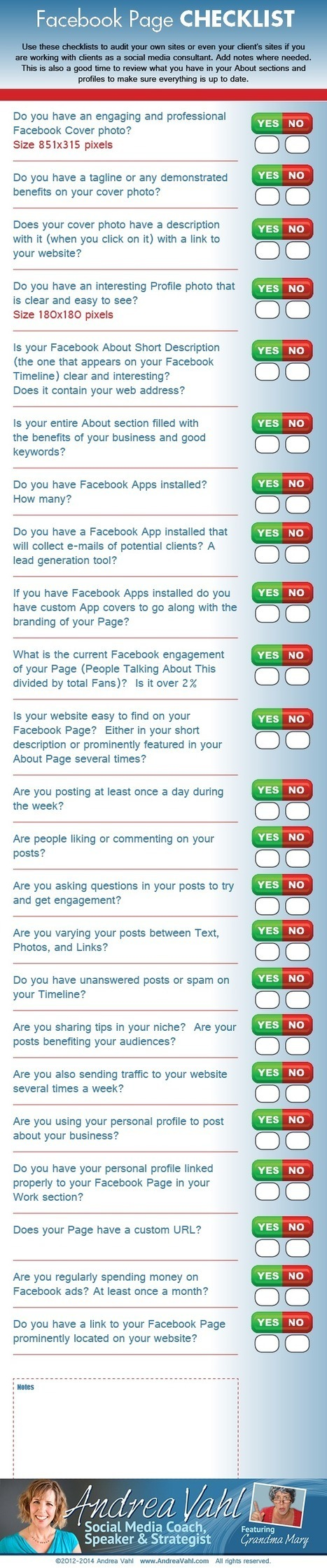 Facebook Page Checklist [Infographic] | Social Media Marketing Superstars | Scoop.it