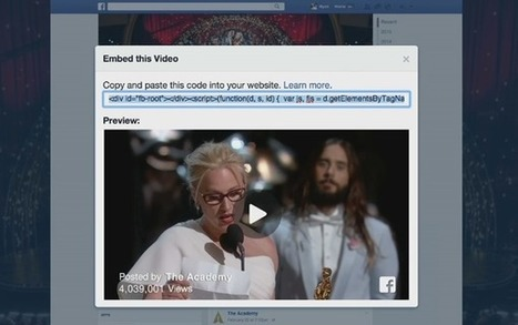 Facebook Introduces An Embeddable Video Player - Social Media Week | Moore Interaction | Scoop.it