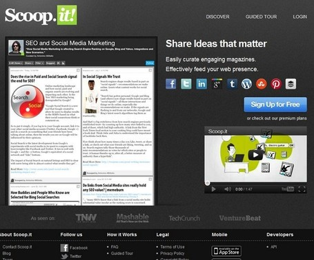 Top 10 tools for content curation 2012 | Nouvelles des TICE | Scoop.it